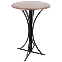 Boro Bar Contemporary Table in Walnut and Black