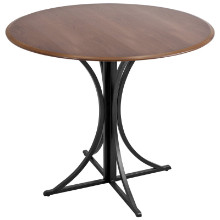 Boro Dining Contemporary Table in Walnut and Black
