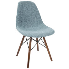 Brady Duo Mid-Century Modern Dining / Accent Chair in Charcoal Grey -Set of 2