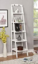 CM-AC808WH Theron white finish wood 5 tier bookcase shelf