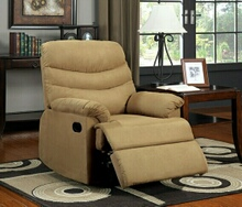 Mocha pleasant valley microfiber wide seat plush cushions recliner