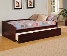 Furniture of america CM1737 Sunset traditional low profile style platform day bed dark cherry finish.