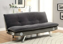 CM2675GY Gallagher gray champion fabric futon sofa bed