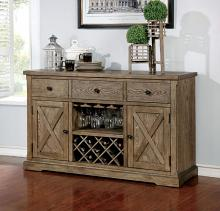 CM3014-SV Julia rustic natural tone finish wood rustic style sideboard server