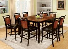 CM3034PT-9PC 9 pc salida ii acacia and black finish wood counter height dining table set