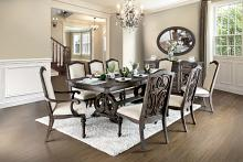 CM3150T 9 pc August grove abbottstown arcadia rustic natural tone finish wood trestle base dining table set