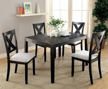 Furniture of america CM3175T-5PK 5 pc Glenham brushed black finish wood dining set