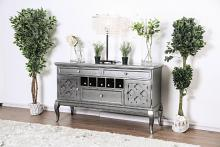 CM3219GY-SV Amina Gray finish wood dining sideboard server console table