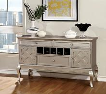 CM3219-SV Amina silver finish wood dining sideboard server console table