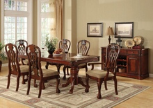 7 pc. george town warm cherry wood finish elegant formal dining set