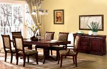 CM3224T 7 pc Charlton home pitre st nicholas i cherry finish wood double pedestal dining table set