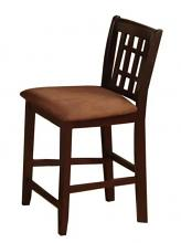 CM3246PC-2PK Set of 2 eleanor espresso finish wood counter height dining chair stool