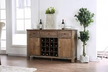 CM3324A-SV Sania i antique oak finish wood rustic style sideboard server