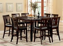 CM3336PT-9PC 9 pc Charlton home highworth edgewood ii counter height espresso finish wood counter height dining table set