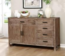 Furniture of america CM3358-SV Lidgerwood rustic natural tone finish wood rustic style sideboard server