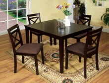 5 pc. weston i contemporary style espresso wood finish dining table set