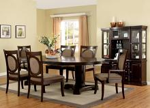 CM3418T 7 pc Darby home co prague evelyn dark walnut finish wood double pedestal dining table set