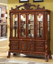 CM3557HB Helena evangeline medieve antique oak finish wood elegant Hutch and buffet china cabinet