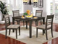 CM3607T-5PK 5 pc taylah weathered grey finish wood dining table set
