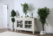 CM3630-SV Daniella antique white finish wood dining sideboard server console table