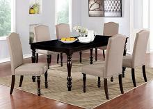 CM3738T-7PC 7pc Alcott hill shirlene hilma espresso finish wood dining table set