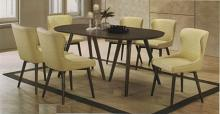 CM3781T-80SC-7PC 7 pc Brayden studio aniya I gray finish wood mid-century modern oval dining table set