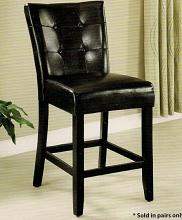 CM3866PC Set of 2 marion iii counter height chair leatherette back and seat with a espresso wood finish frame