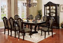 CM3878T-7PC 7 pc Rosalina walnut finish wood elegant formal style dining table set
