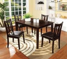CM3888T-5pk 5 pc northvale i espresso finish wood dining table set