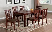 Furniture of america CM3930T-7PK 7 pc montclair i dark cherry wood finish dining table set