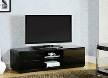 Cerro collection modern style black high gloss lacquered coating tv entertainment center stand
