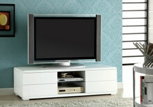 Cerro collection modern style white high gloss lacquered coating tv entertainment center stand