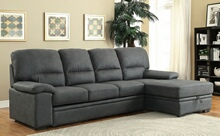 CM6908BK 2 pc alcester graphite faux nubuck fabric sectional sofa set
