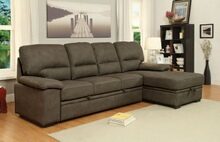 CM6908BR 2 pc alcester ash brown faux nubuck fabric sectional sofa set