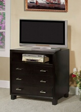 Enrico collection contemporary style espresso finish wood tv console media chest
