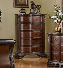 CM7267C South yorkshire deep brown cherry wood finish chest of drawers