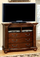 CM7736TV Grandom contemporary style antique walnut finish wood tv console media chest