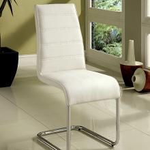 CM8371WH-SC-2PK Set of 2 Orren ellis monaco mauna modern white faux leather dining chairs