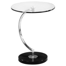 C End Contemporary Table in Glass
