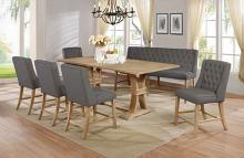 Best Quality D40-7PC 7 pc Gracie oaks denville antique natural finish wood counter height dining table set