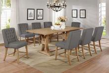 Best Quality D40-9PC 9 pc Gracie oaks denville antique natural finish wood counter height dining table set