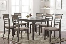 Mc Ferran MF-D5051-7PC 7 pc Gracie oaks edouard brown finish wood dining table set