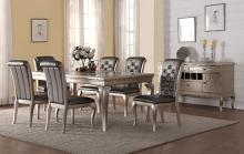Mc Ferran MF-D508-7PC 7 pc City lights wila arlo rohan antique silver finish wood dining table set