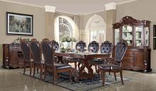 Mc Ferran D527 7 pc Astoria grand mcquaig dark brown two tone finish wood dining table set