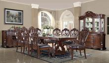 Mc Ferran D528 7 pc Astoria grand mcquaig dark brown two tone finish wood dining table set