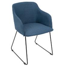 Daniella Contemporary Chair in Blue -Set of 2