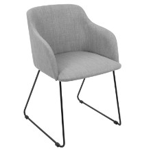 Lumisource CH-DNLA-LGY2 Daniella Contemporary Chair in Light Grey -Set of 2