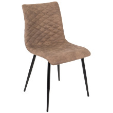 Eastwood Industrial Dining Chair in Brown PU  - Set of 2