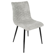 Eastwood Industrial Dining Chair in Grey PU  - Set of 2