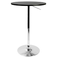 Elia Height Adjustable Bar Contemporary Table in Black